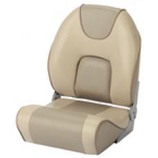 Garelick Pro-Fish Fold Down Seat Ivory