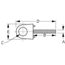 SEADOG Bow Eye 3/8X5In Chrome Zinc