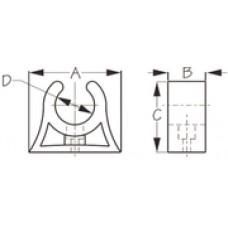 SEADOG Pole Storage Clip White 1-1/2