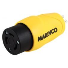 Marinco Adapter 15A Ma Strgt Blad/30A Fem