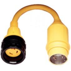 Marinco Adapter 30A/125-50A/250V Lock