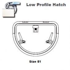 Lewmar Hatch D-Shape Lo-Profile Size 51