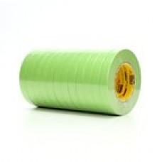 """3M Tape Masking 233+ 18Mm 3/4""""Green 48/Cs"""