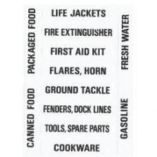 Forespar Labels Stowage Locker (205)