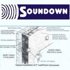 "Sounddown Sound Barrier 54"" x 32"" x 1"" SOUND BARRIER-METALIC FACED"